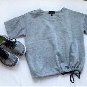 J. Crew Gray Short-Sleeve Sweatshirt